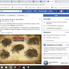 Publicaciones en el Facebook de El Resurgir de Mema sobre la inclusión del Alaeterna en el juego