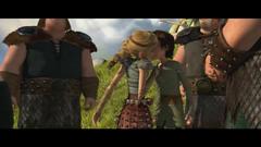 Astrid e Hipo 1º beso en los labios