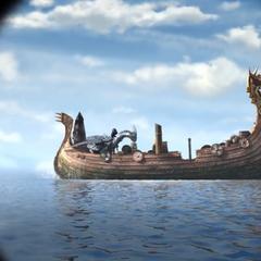 Barco atacado por el jinete solitario