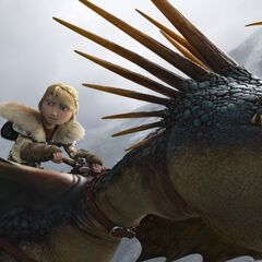 Tormenta y Astrid observando la fortaleza