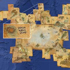 Isla usada como base principal de esta tribu, y su ubicación en el mapa de Hipo
