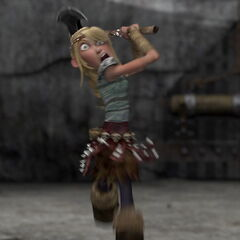 Astrid a punto de matar a Tormenta