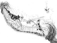 Pelea de espadas