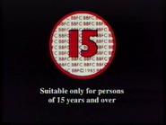 BBFC 15 Card (1991) 2