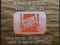 Fox Video Piracy Warning (1991) (Variant) Hologram