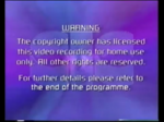 Fourth CIC Video warning screen