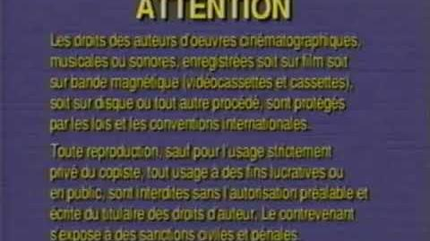 Lyrick Studios Warning Screen (French)