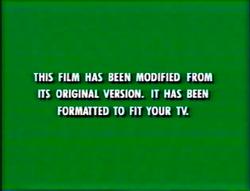 First Buena Vista and Walt Disney Home Video modified screen