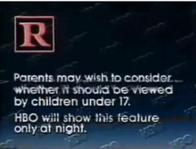 HBO rated R
