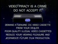 CIC Video Piracy Warning (1986)