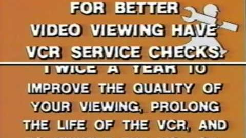 VCR Service Message Media Home Entertainment (Later Day)