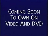Coming Soon to Own on Video and DVD from Disney