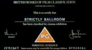 BBFC PG Card (Strictly Ballroom)