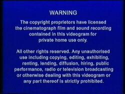 Just Entertainment Ltd. Abbey Home Media Blue Warning Screen (2001-2005)
