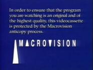 Macrovision Warning (1991-1999)