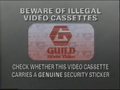 Guild Home Video Piracy Warning (1991) Hologram
