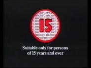 BBFC 15 Card (1991)