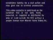 Warner Home Video Warning Screen (1995) (S2)