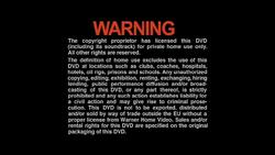 Warner Home Video Warning DVD (1999)