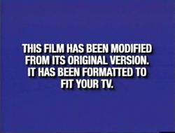 Second Buena Vista and Walt Disney Home Video modified screen