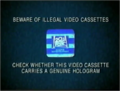 20th Century Fox Home Entertainment Illegal Video Cassettes (2000) Hologram