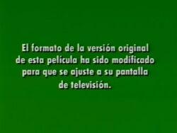 Disney Format Screen in Spanish 1993