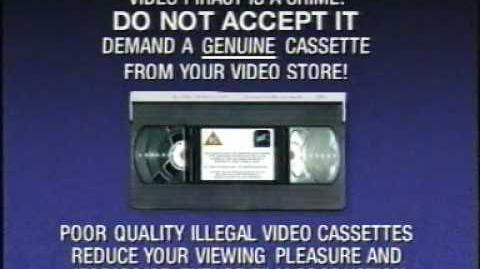 Fox Video Hologram Check Anti-Piracy Message FACT (Inc