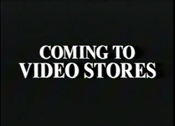 Coming to Video Stores