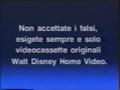 Walt Disney Home Video Italian Piracy Warning (1991) (S6)