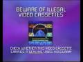 CIC Video Piracy Warning (1997) (Paramount) Hologram