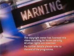 Third Paramount Home Entertainment UK warning screen