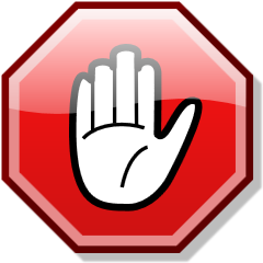 Stop hand nuvola