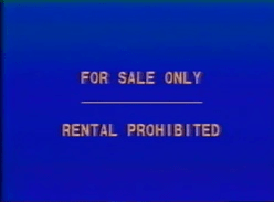 Walt Disney Home Entertainment For Sale Only screen (canadian version)