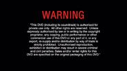BUENA VISTA HOME ENTERTAINMENT 2005 DVD WARNING SCREEN