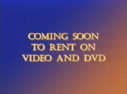 20th Century Fox Home Entertainment Coming Soon to Rent on Video and DVD 2001 Bumper