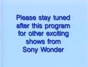 Sony Wonder Please Stay Tuned Bumper 2000-2001