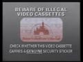 Buena Vista Home Video Piracy Warning (1991) Hologram