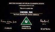BBFC U Card (Chicken Run)