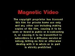 Magnetic Video UK Warning (1980)