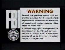 Chronicle vhs warning screen