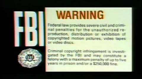 FBI Warning screen