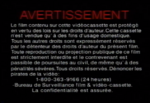 Universal French Canadian VHS Warning