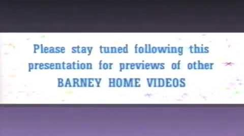 Stay Tuned for Barney Home Videos -Rare Early Variant-