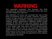 BUENA VISTA HOME ENTERTAINMENT 2000 DVD WARNING SCREEN