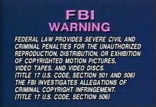 Vidmark entertainment warning screen