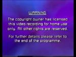Paramount Home Entertainment 2000 Warning Screen