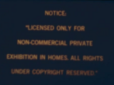 Walt Disney Home Entertainment Warning Screens