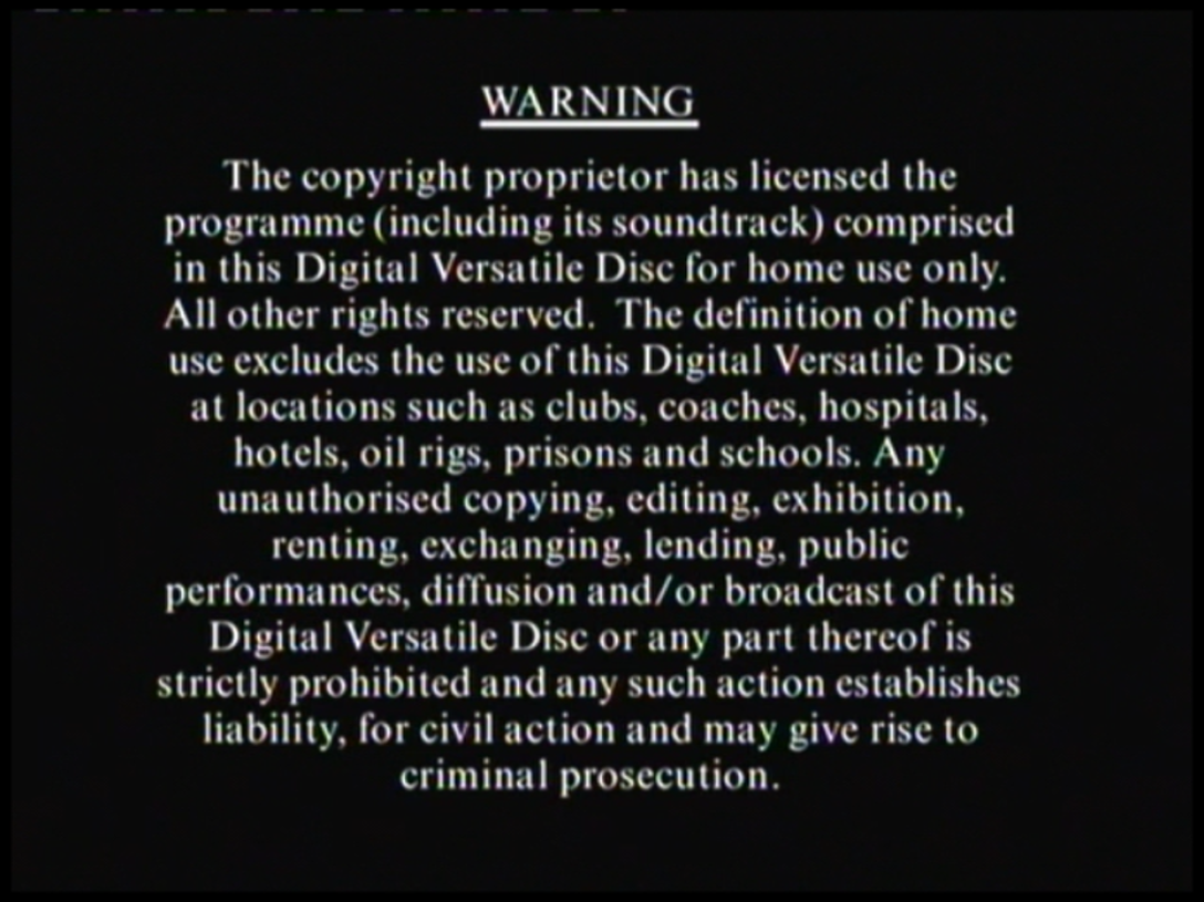image - columbia tristar home video warning (1997) | company