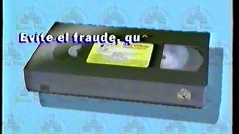 Copyright Disney VHS Años 90