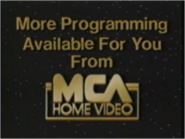 More Programming Available for You From MCA Home Video